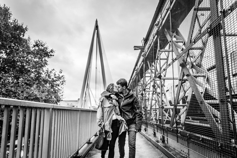Love on Embankment Bridge