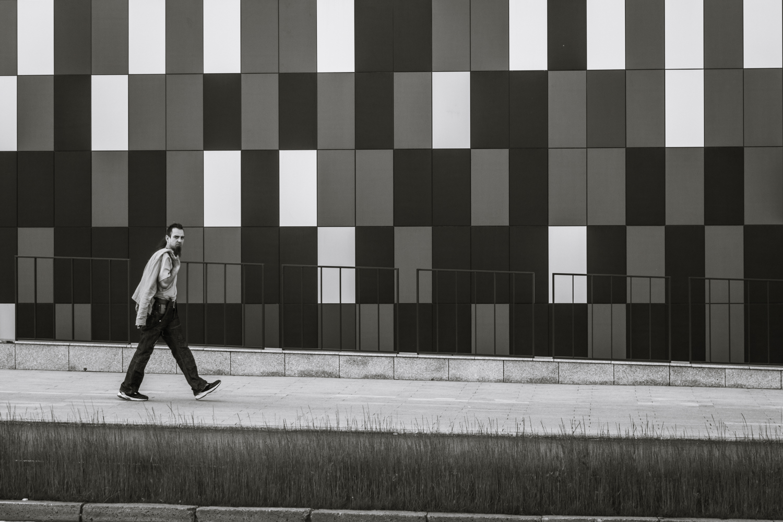 A walking man