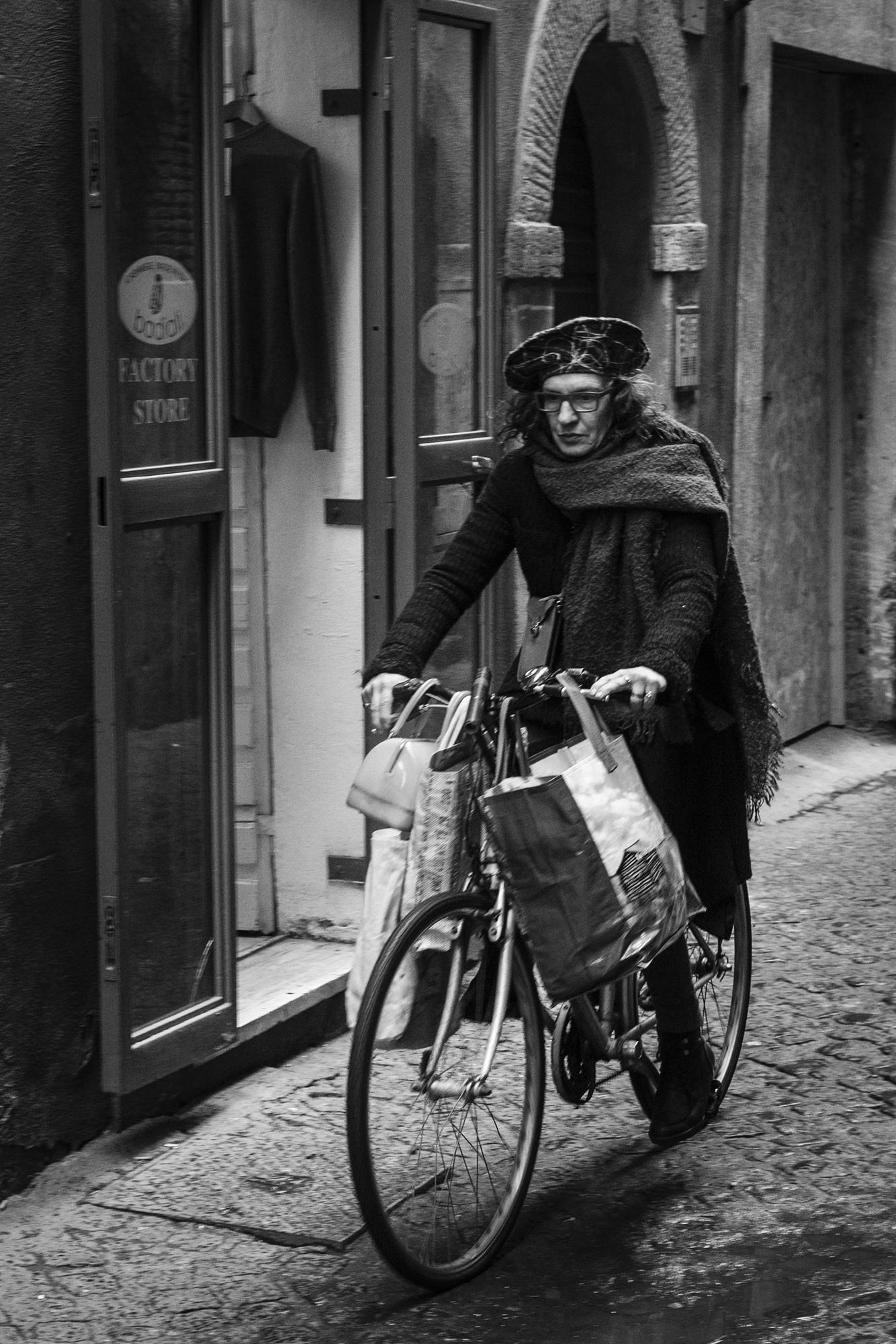 A riding Woman