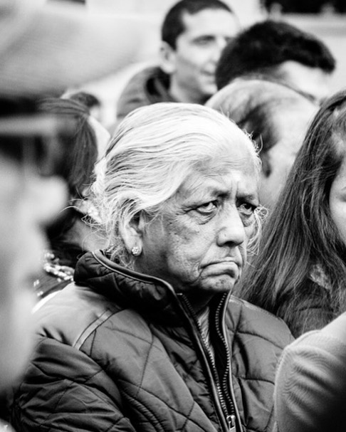 This is one of my favourite #streetportrait taken during #diwali celebrations in a wonderful city of #london #streetphotography #bnwphotography #bnwmood #eyes #humansoflondon