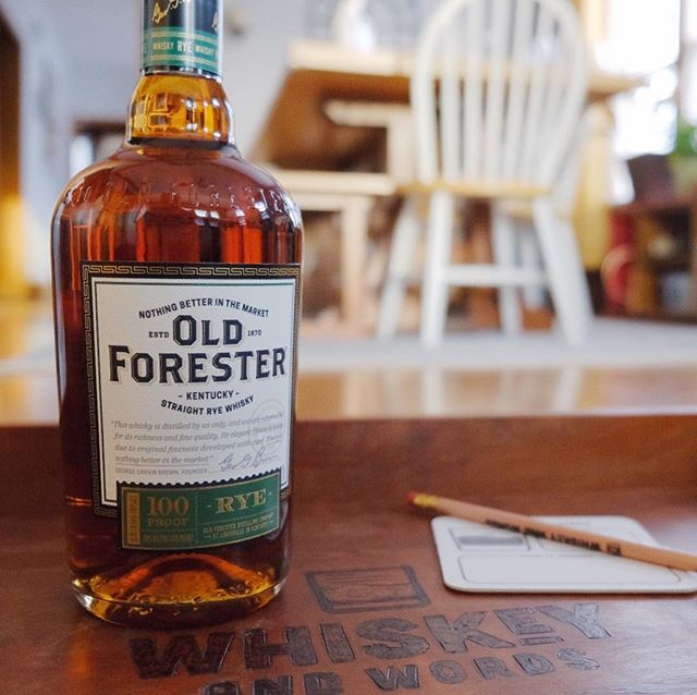 We're getting ready to open this up for a tasting tonight. We're also excited to hear what words guys are bringing to share at tonight's gathering! Cheers! #whiskeyandwords #oldforester #whiskeytasting