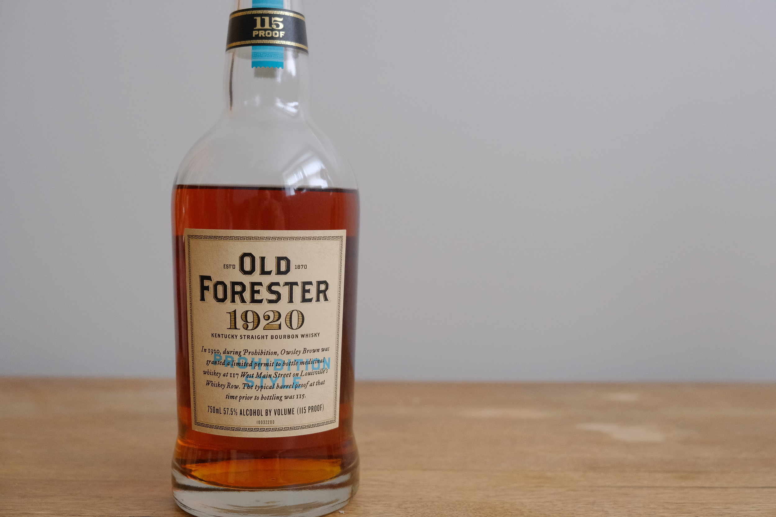 4. Old Forester 1920 Prohibition - When only 10 distilleries remained open during prohibition, Old Forester was still producing some stellar whiskey. With their 'Whiskey Row' series, you don't even need a Delorean to get a taste of it. We're glad they brought this recipe back.