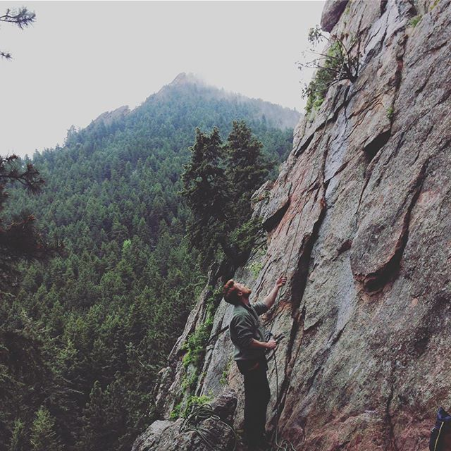 Current Happiness Level is 10/10. Done with work, done with those negative degree van life nights and done with being lazy... for now. #summer #rain #flatirons #boulder #colorado #climbing