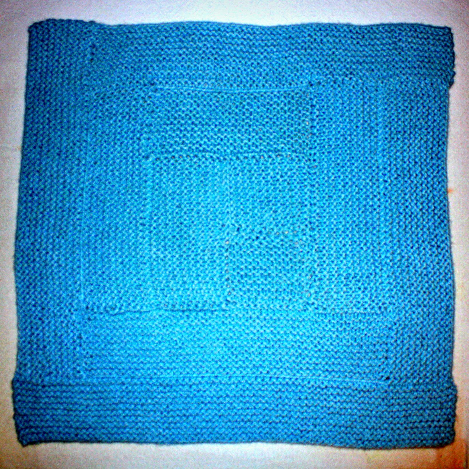 Free knitting pattern for garter stitch baby blanket