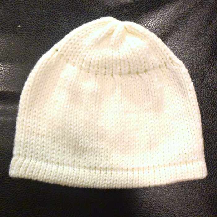 How to tutorial for machine knitting a toddler hat on LK150 knitting machine