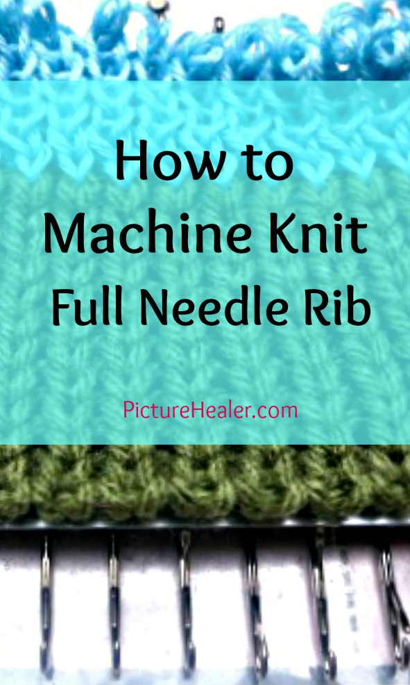 How to tutorial for knitting a Full Needle Rib on a knitting machine