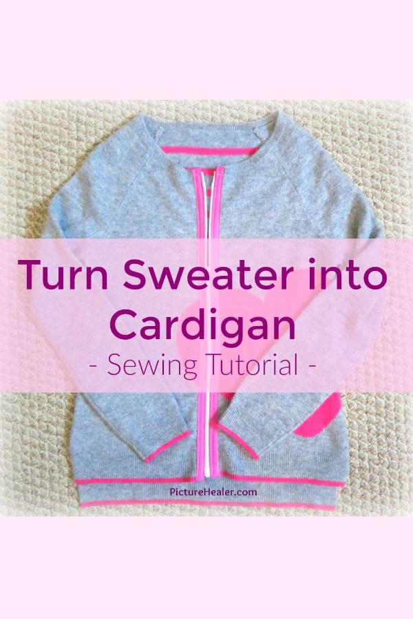sweater into cardigan
