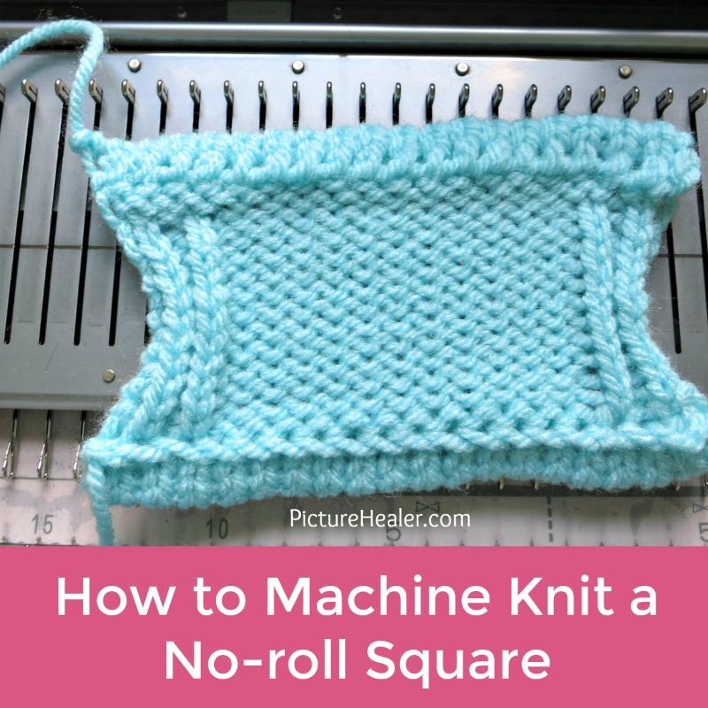 machine knitting no roll square