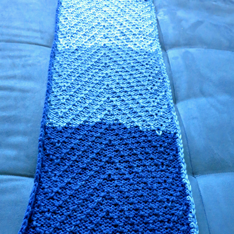 tuck stitch machine knitting scarf