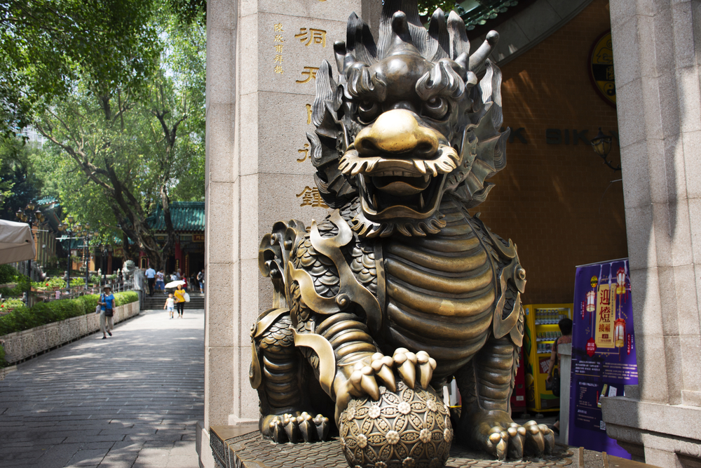 Qi Lin is the auspicious animal (from the dragon family) for guarding your house.