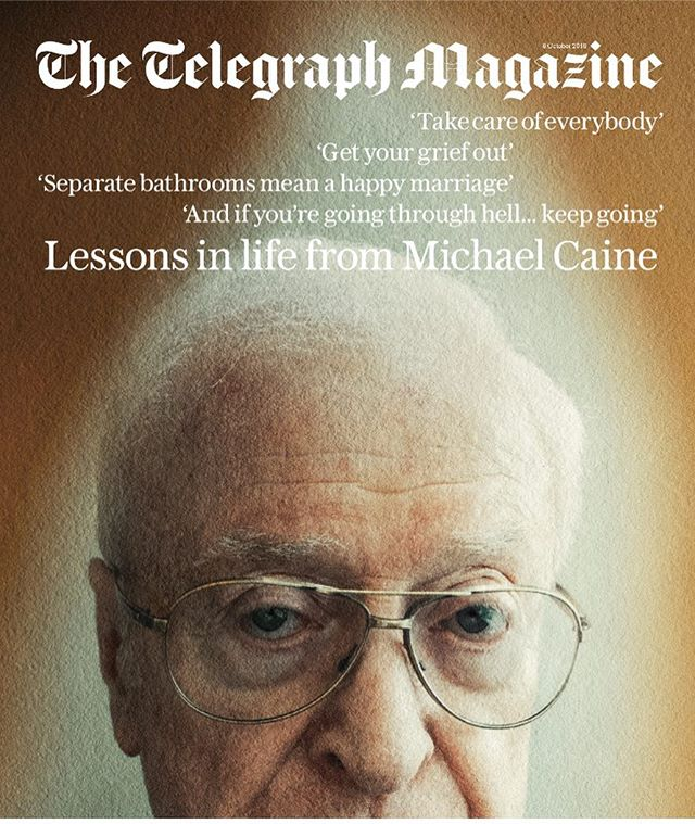 One of my favourite Telegraph Magazine covers - the brilliant Sir Michael Caine shot by the exceptional Jack Davidson. Out tomorrow. 🙌🏻 @jackdavisonphoto @kucharswara @slatersmart @andygreenacre_
