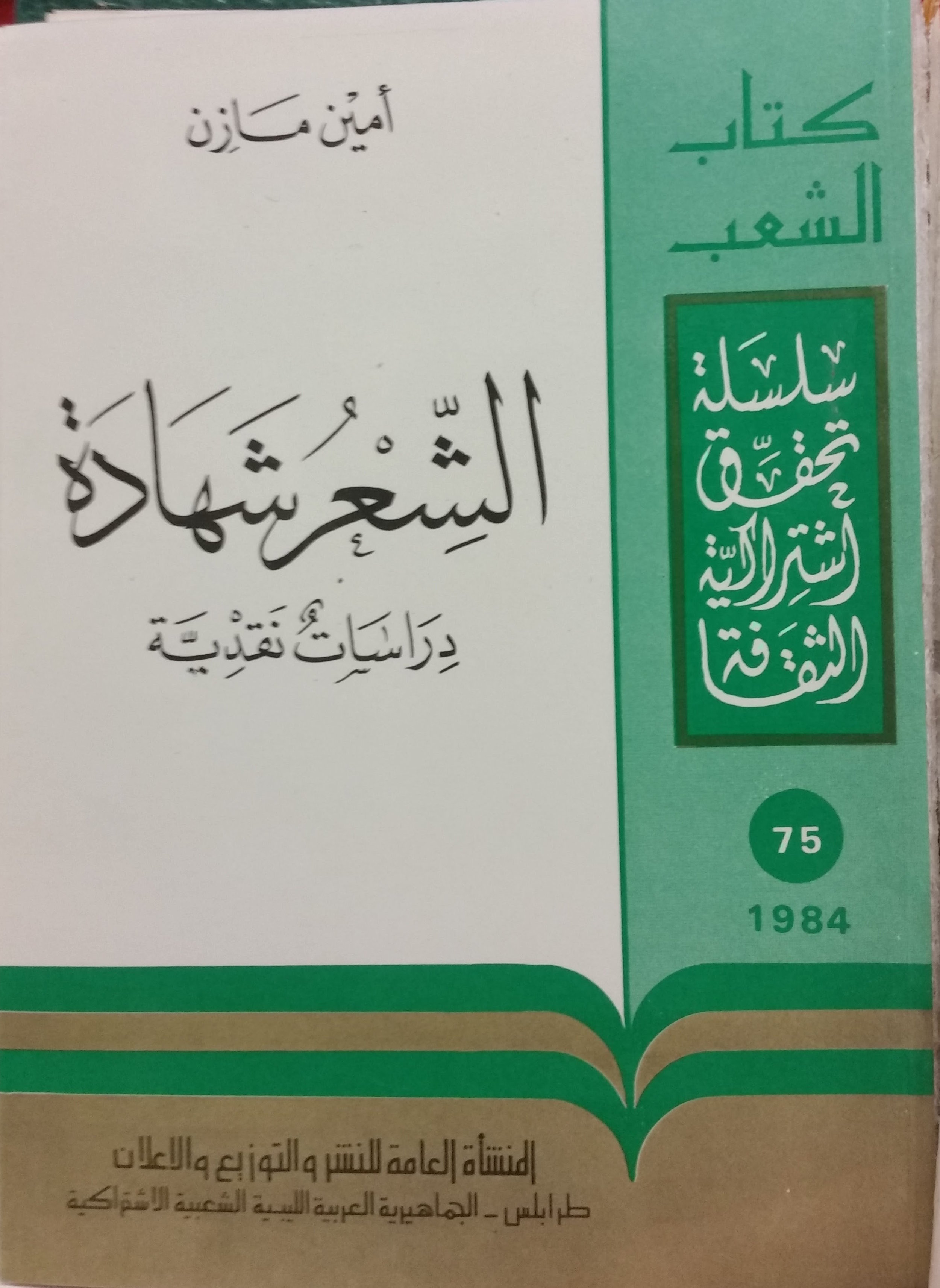 Amīn Māzin (Ṭarābulus, al-Jamāhīrīyah al-ʻArabīyah al-Lībiyyah al-Shaʻbiyyah al-Ishtirākiyyah : al-Munsha'ah al-ʻĀmmah, 1984)