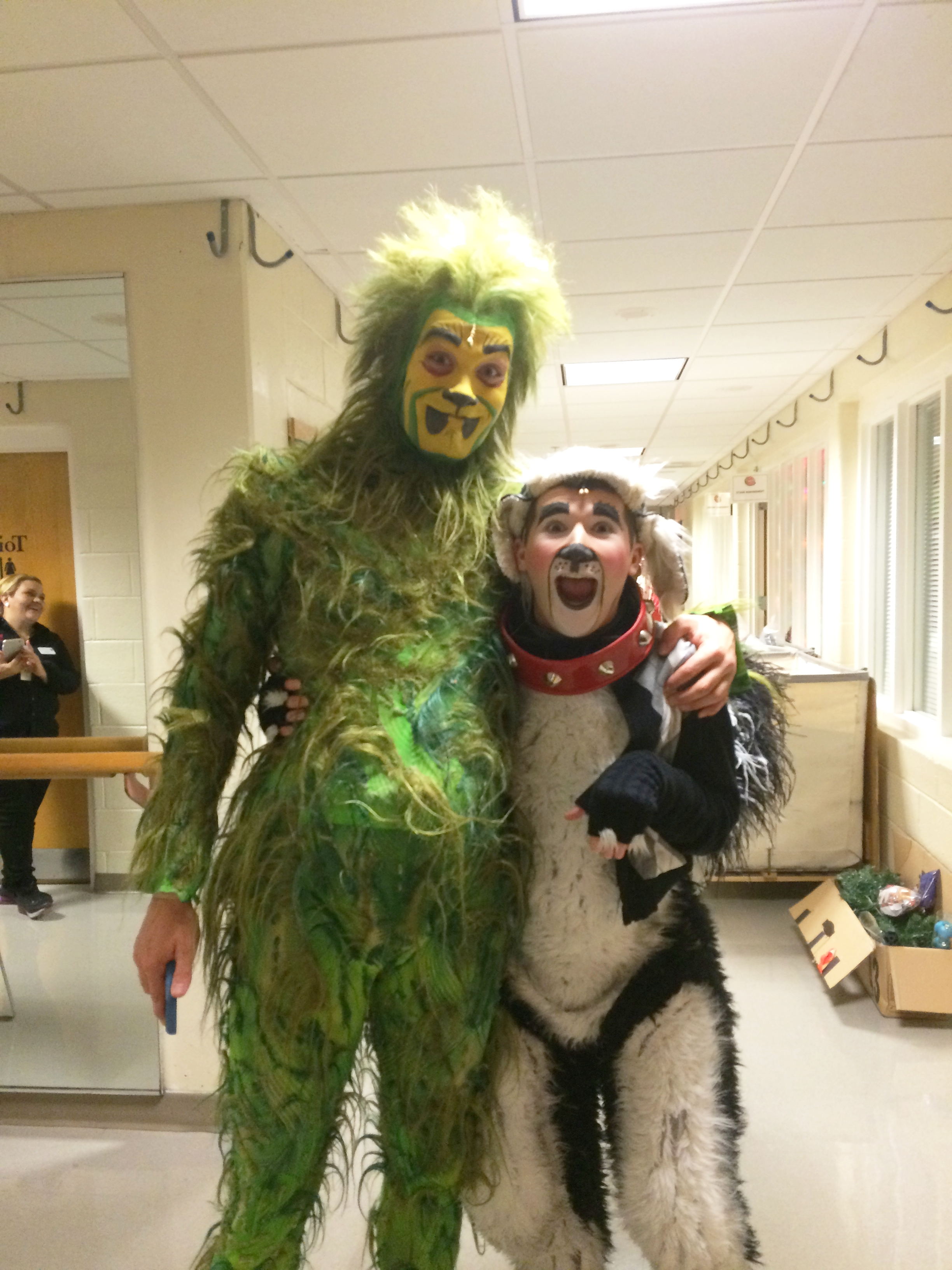 """Backstage at """"How the Grinch Stole Christmas"""""""
