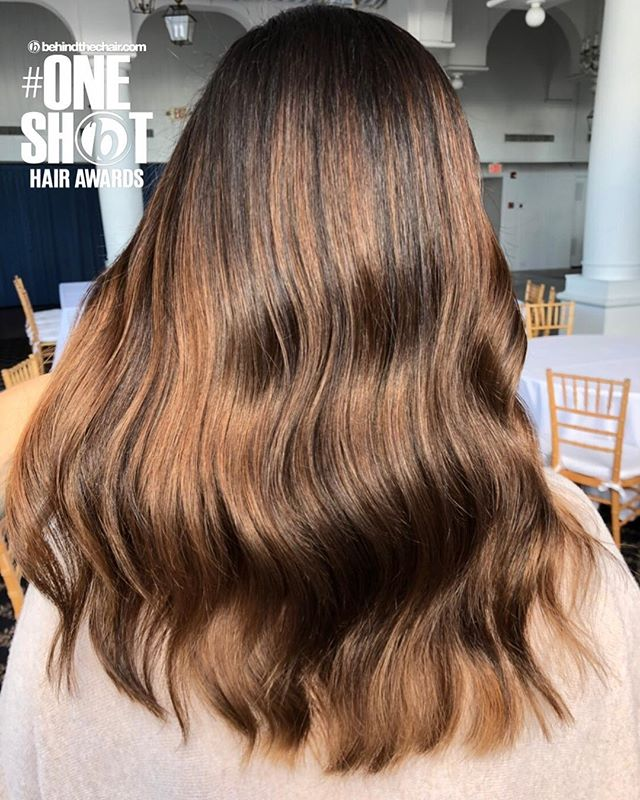 It's time to submit entries for @behindthechair_com #oneshot competition!  Kicking it off with one of my favorite balayages of the year! #btconeshot19_warmbalayage  #behindthechair #jlilliehair #lilliesondune #redkencolor