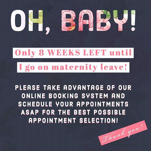 8 more weeks behind the chair! ⁣ ⁣ Book now using our online booking system! Button in bio!⁣ ⁣ 💗💗💗💗