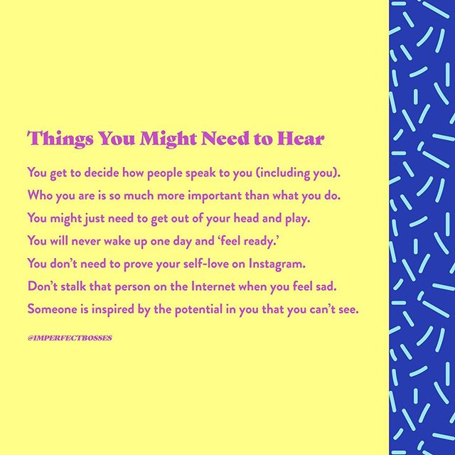Some things you might need to hear on this glorious Monday. . Which one resonates with you the most? .  #theimperfectboss #theimperfectbosscamp #imperfectishuman #imperfectisnormal #theimperfectwoman