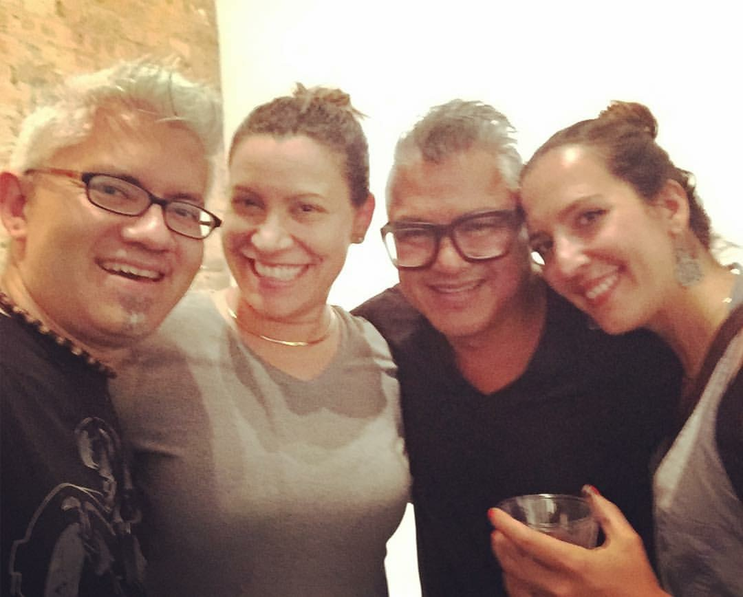 Me and Cesar with the amazing Sergio and Yanina Gomez - Founders of  The Artist Next Level