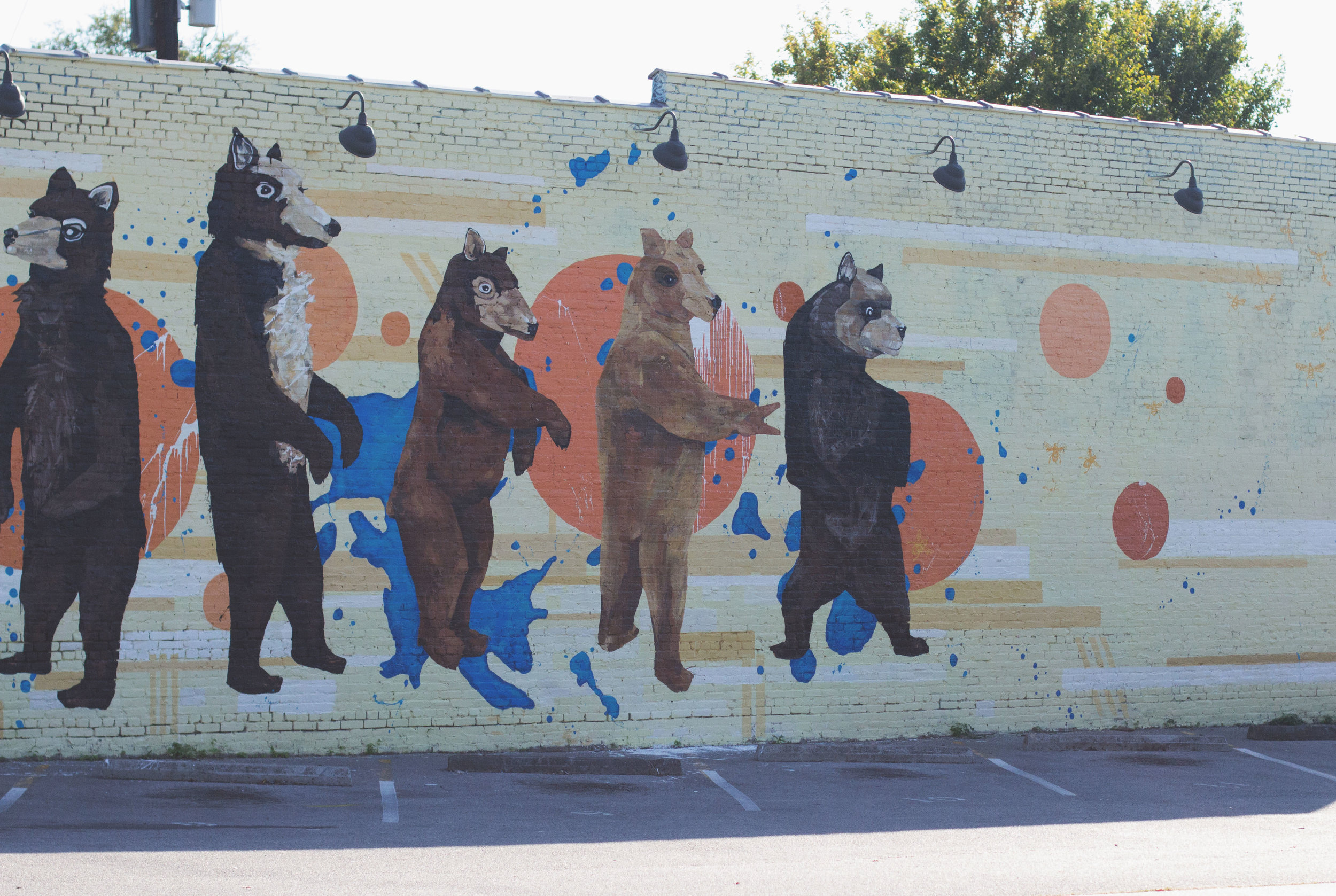 Mural by Leah Tumerman in Five Points, Nashville