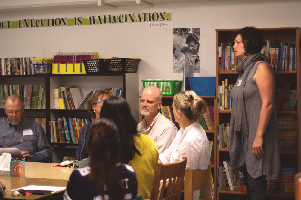 Ann Marie Nafziger, a local artist, has teamed up with the literacy specialist at Marfa Elementary to organize and train local volunteers to come in and read to children.