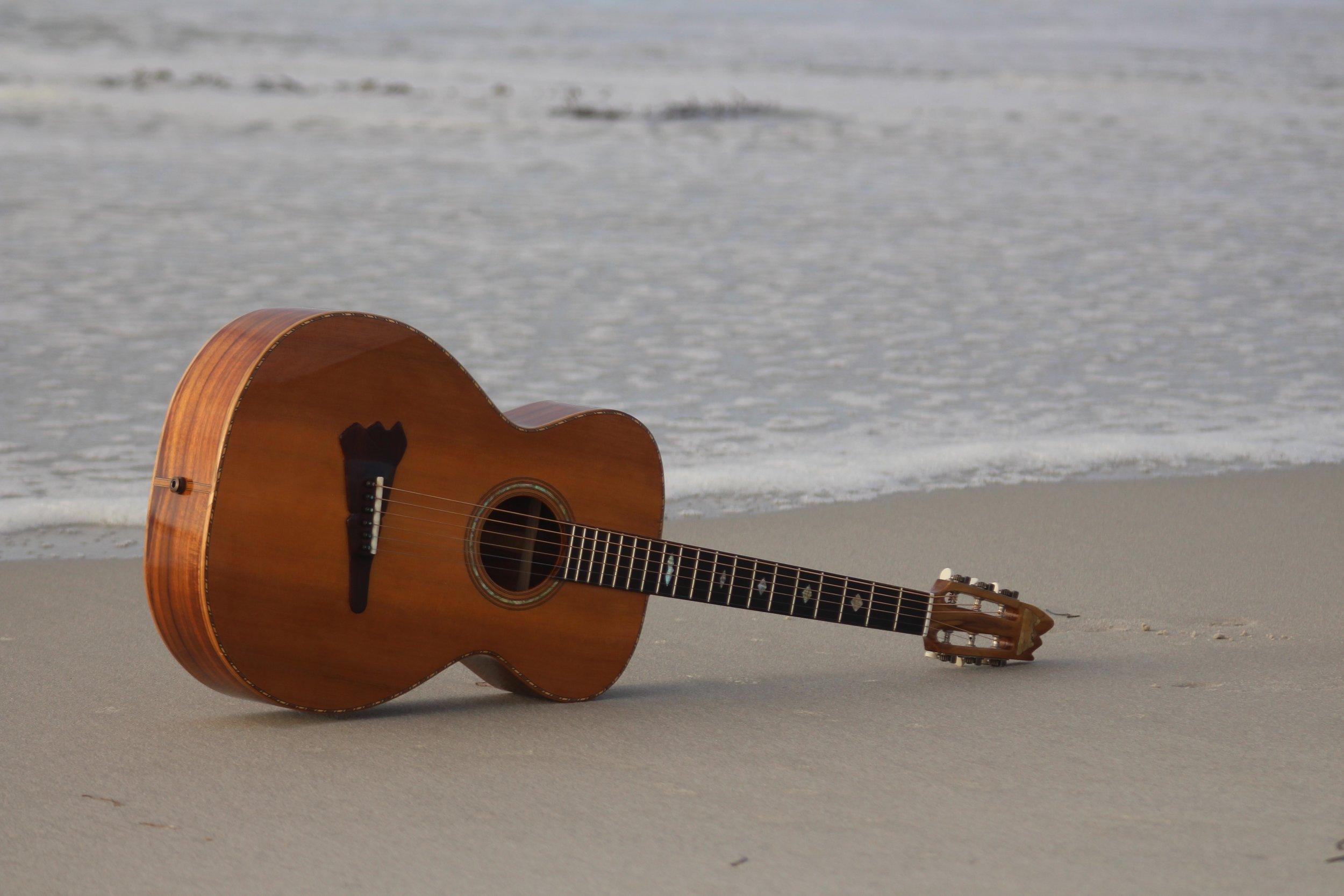 """My first Guitar; """" Emmaus """"."""