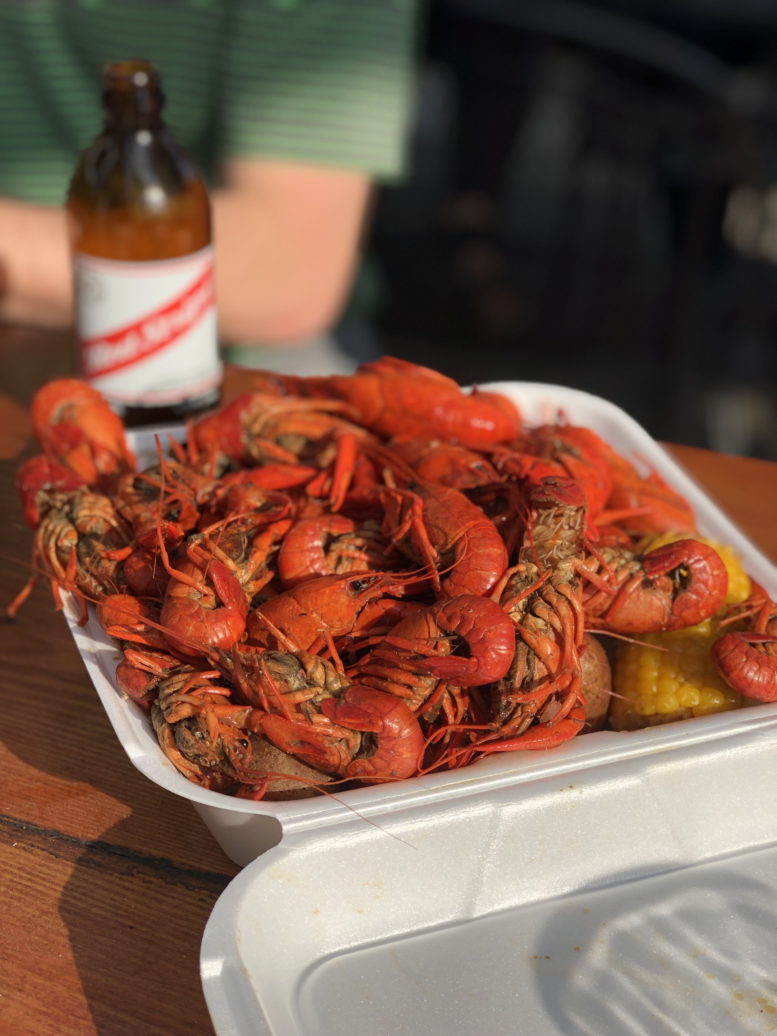 Crawfish at Bayou Beer Garden