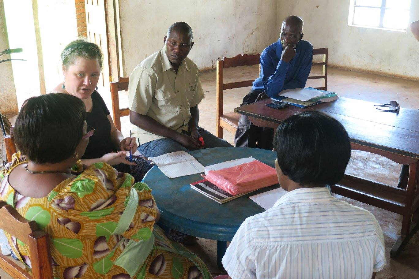 I met with several of my moderators in the field. Here I work with Malawi Matters Coordinator David Chilataya and Regional Representative James Soko in a meeting with women moderators in Salima.
