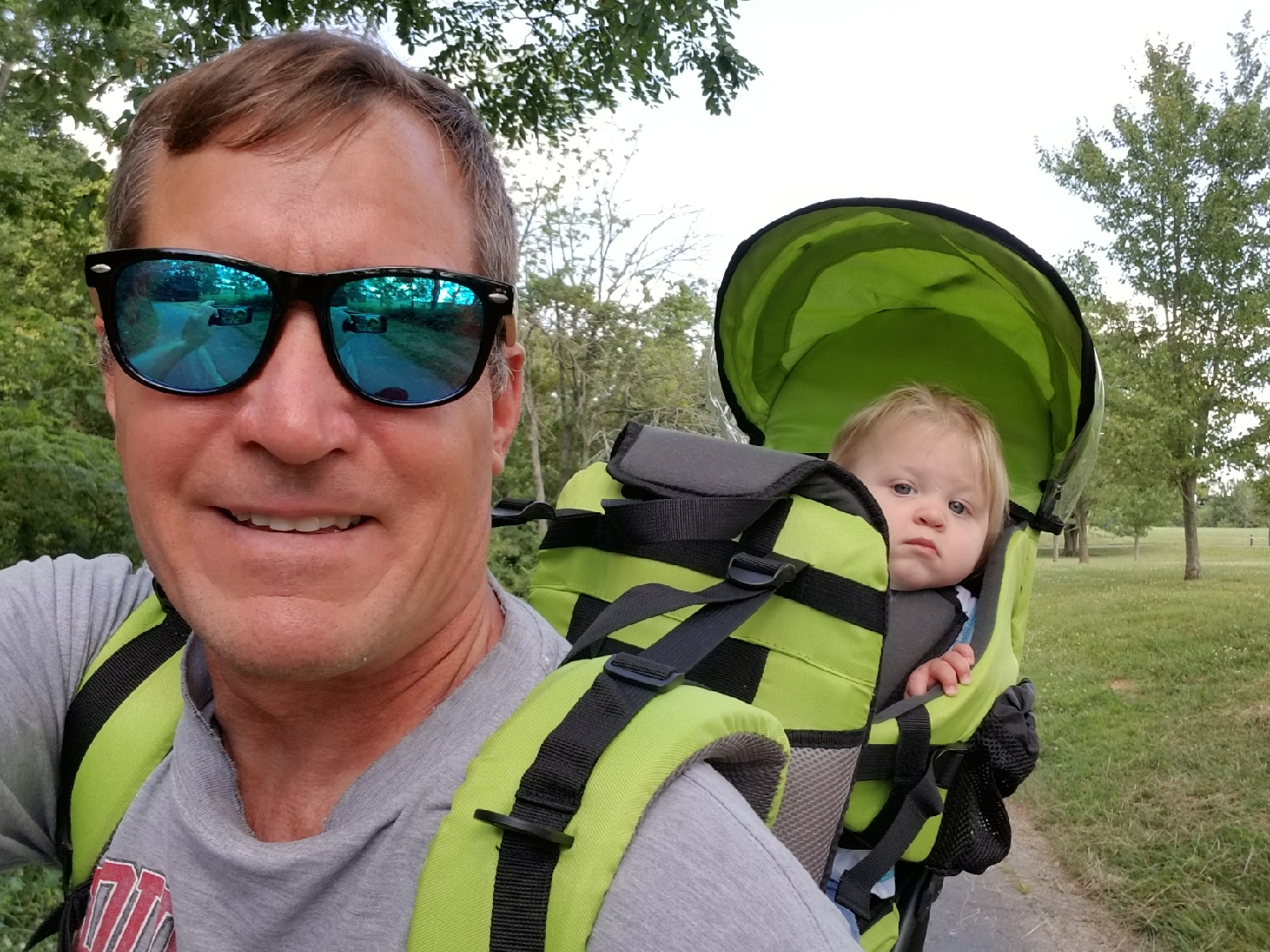The backpack was Banjo's birthday gift from Grandpa Mike and Grandma Julie! Here you can see Banjo and Grandpa trying it out right before we left for Malawi!