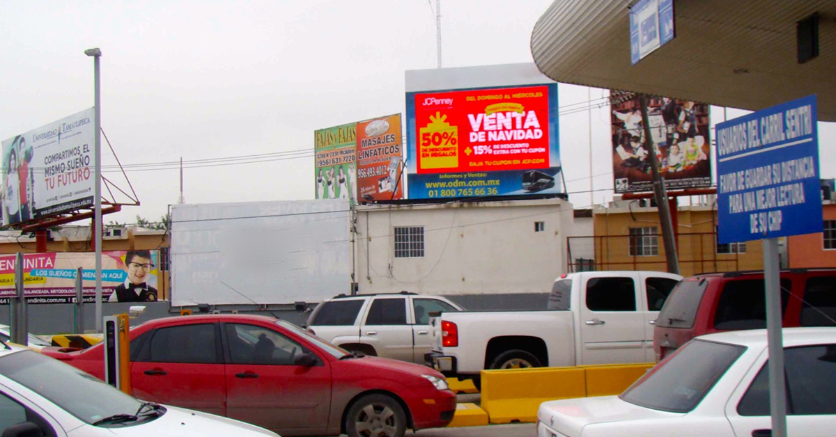 We offer a variety of digital and static billboards on both the US and the Mexico side of the border. This includes not only the San Ysidro border, but all the major crossings in California, Arizona, and Texas.