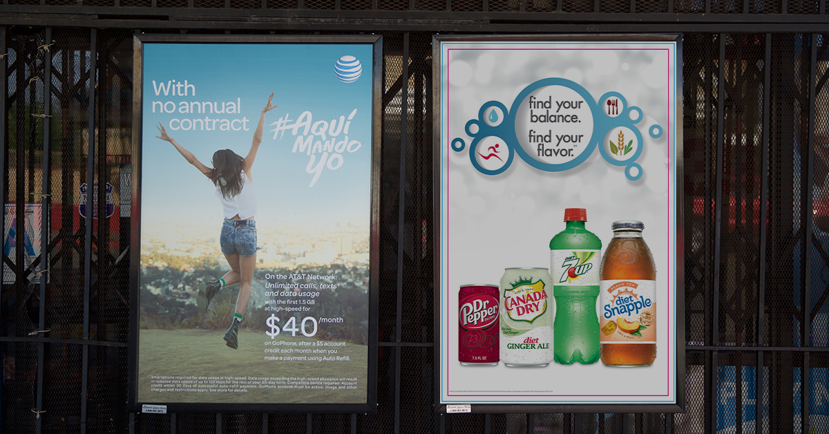 One-Sheet Posters are placed prominently at the entrance of CONVENIENCE STORES, LIQUOR STORES, LOCAL MINI-MARKETS, and GAS STATIONS. Each store averages 30,050 shoppers per week.