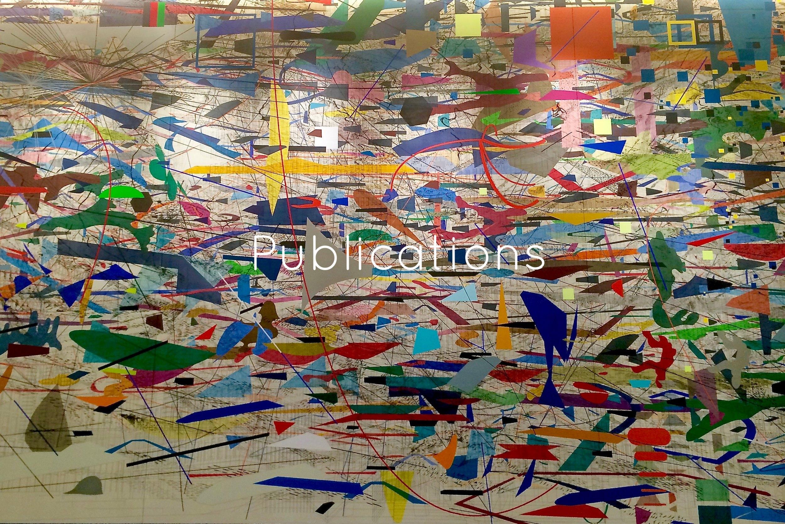"Photo of  Julie Mehretu's ""Mural""  of financial markets."