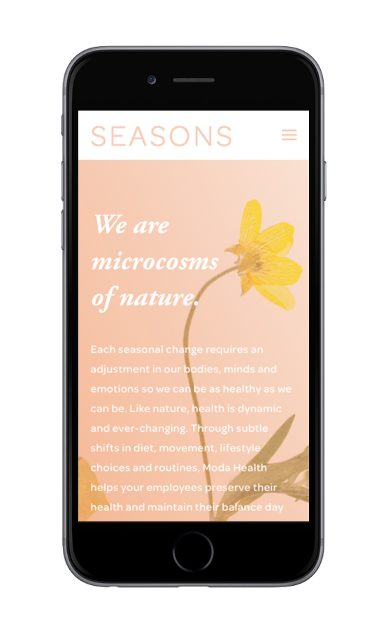XYZ Design | Seasons by Root Whole Body Mobile Device Display 1