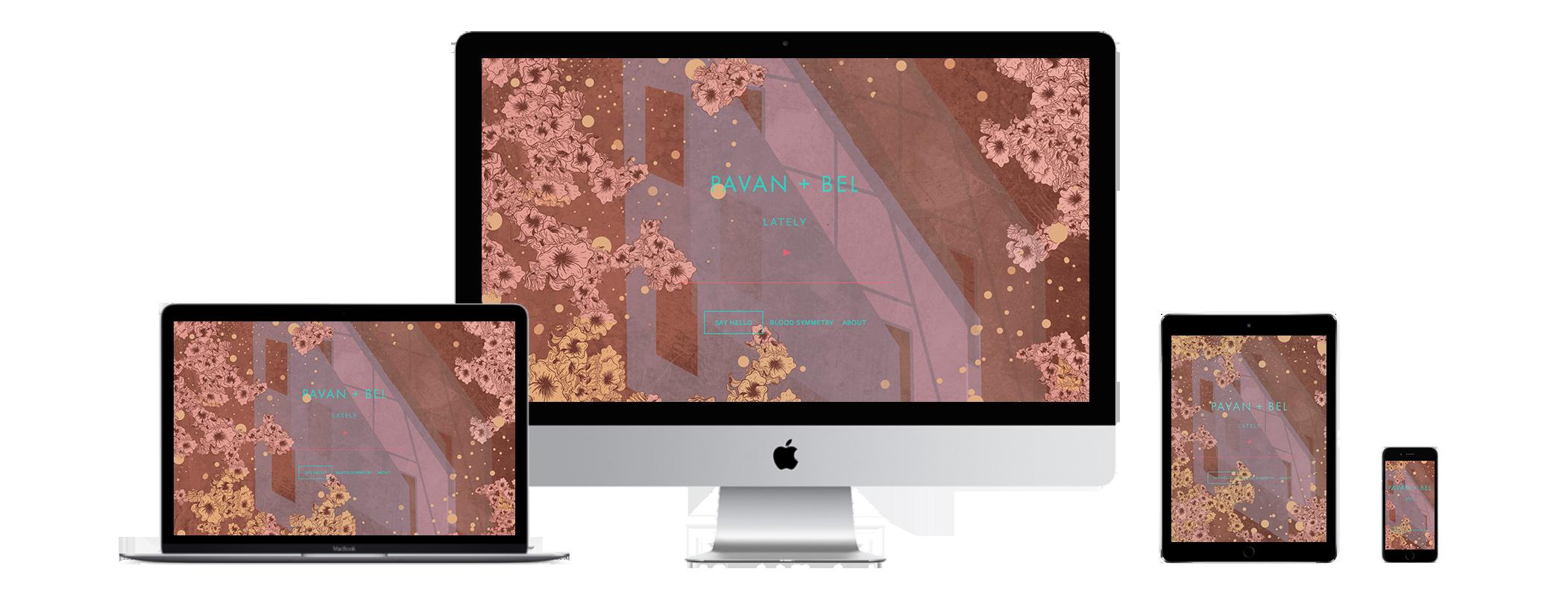 XYZ Design | Pavan+Bel Website Device Displays