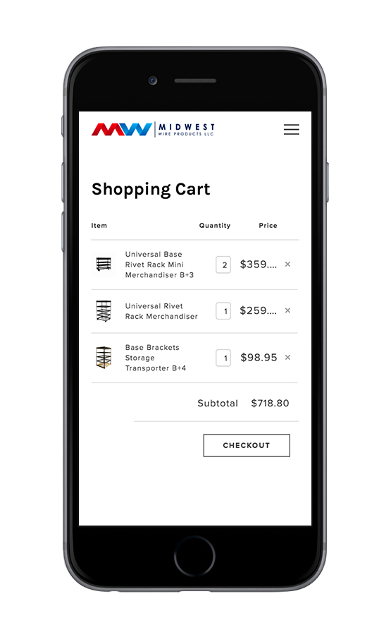 XYZ Design | Midwest Wire Products Mobile Device View 3