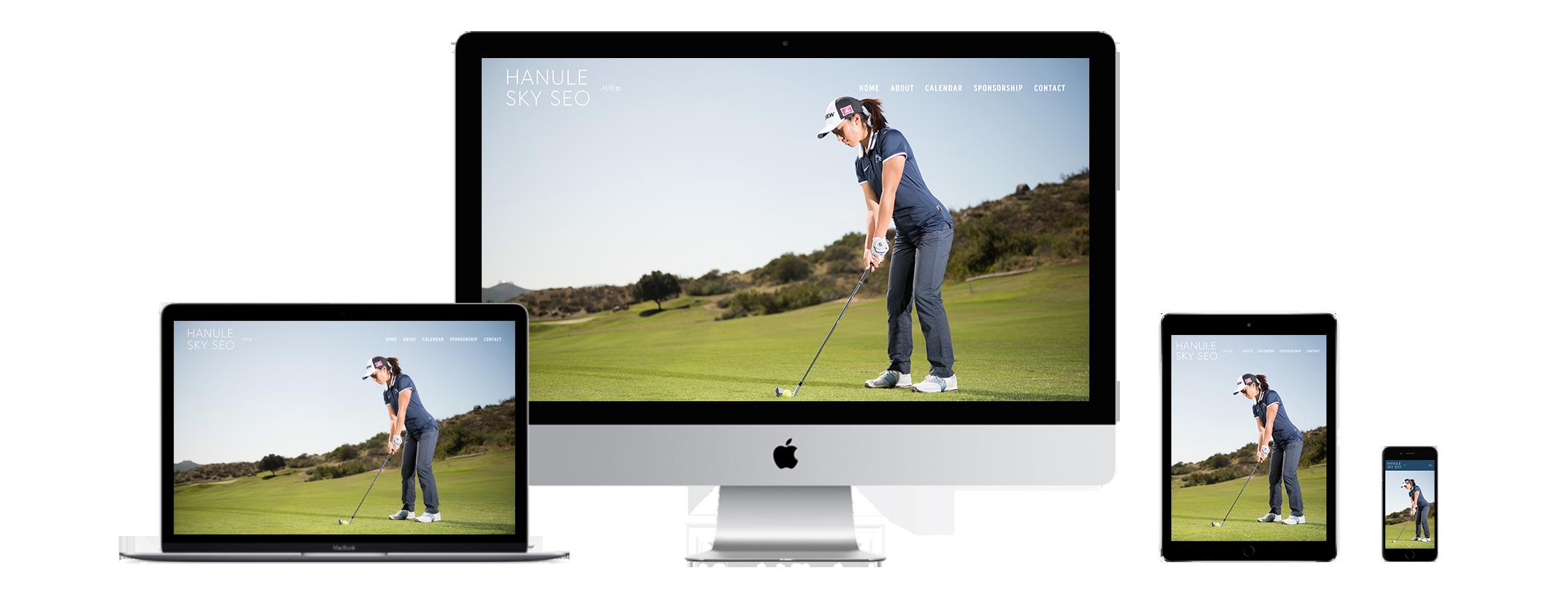 XYZ Design | Hanule Sky Seo Website Device Displays