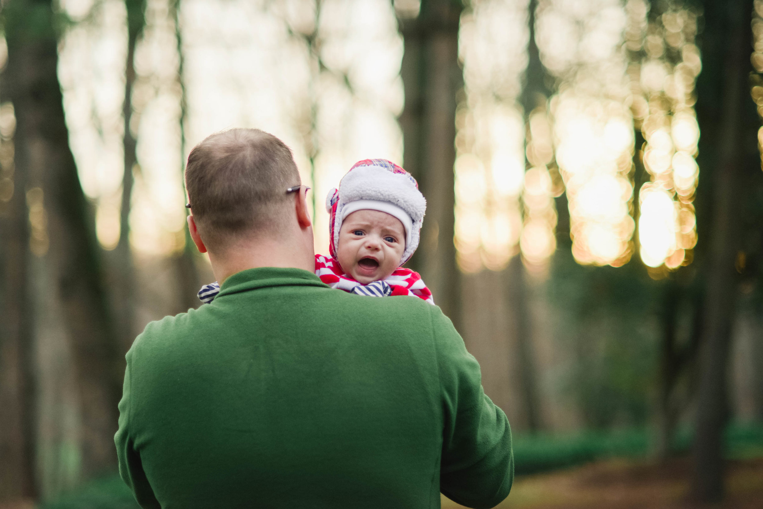 Daddy and Baby at Wolf Trap Park Vienna VA