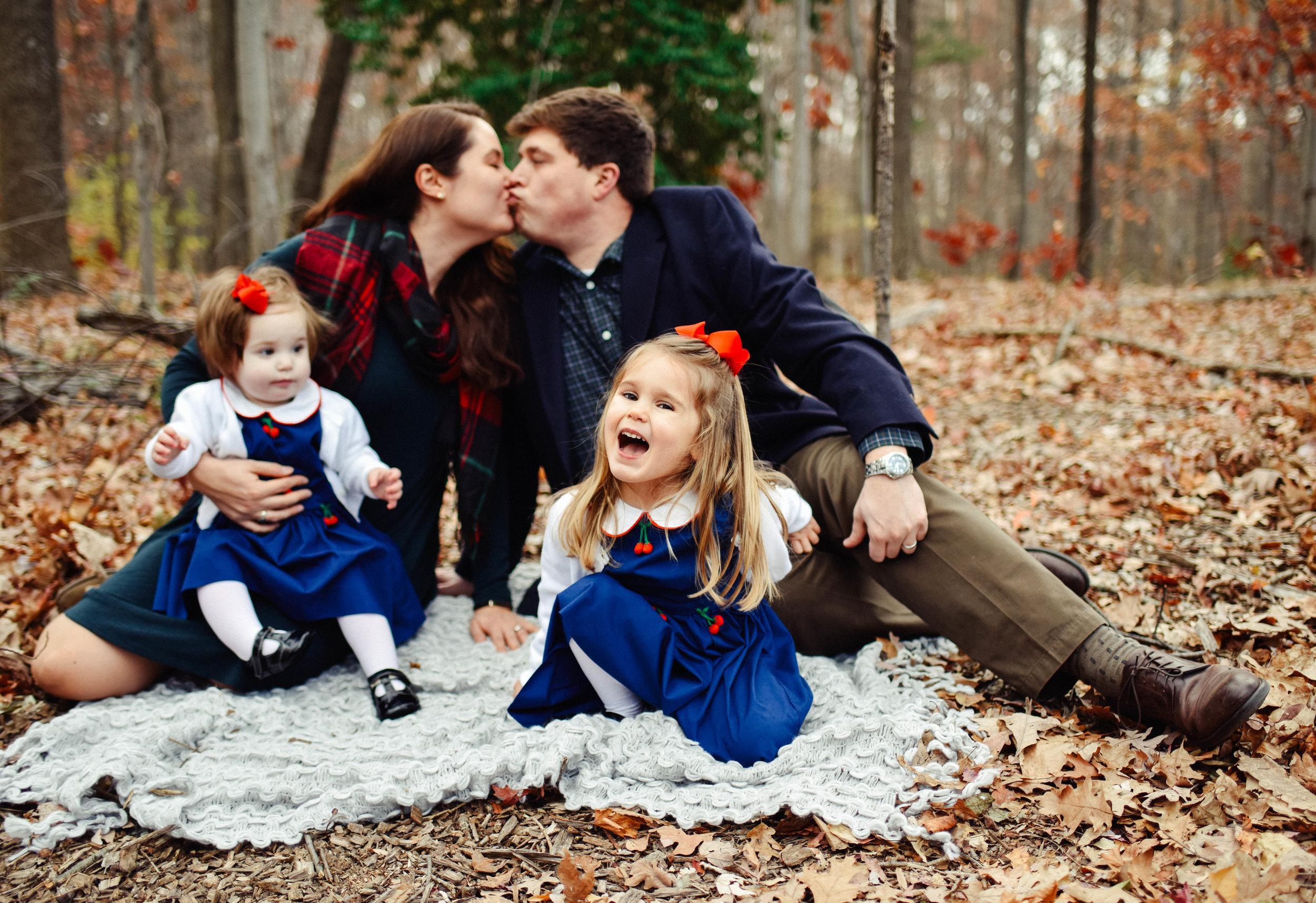 Family Photo at Lake Anne Reston VA