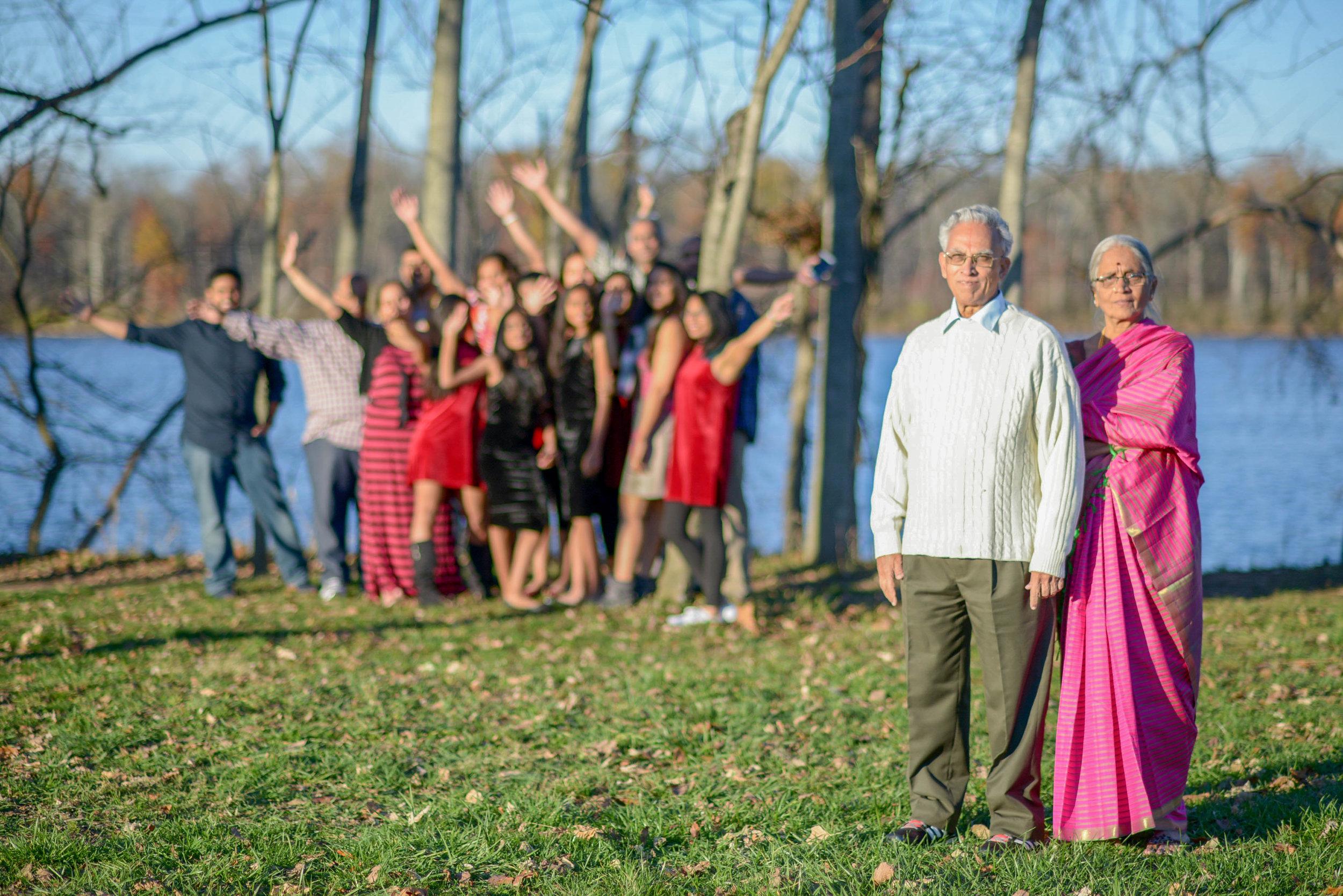 Algonkian Park Desi Family Wedding Reunion Sterling VA