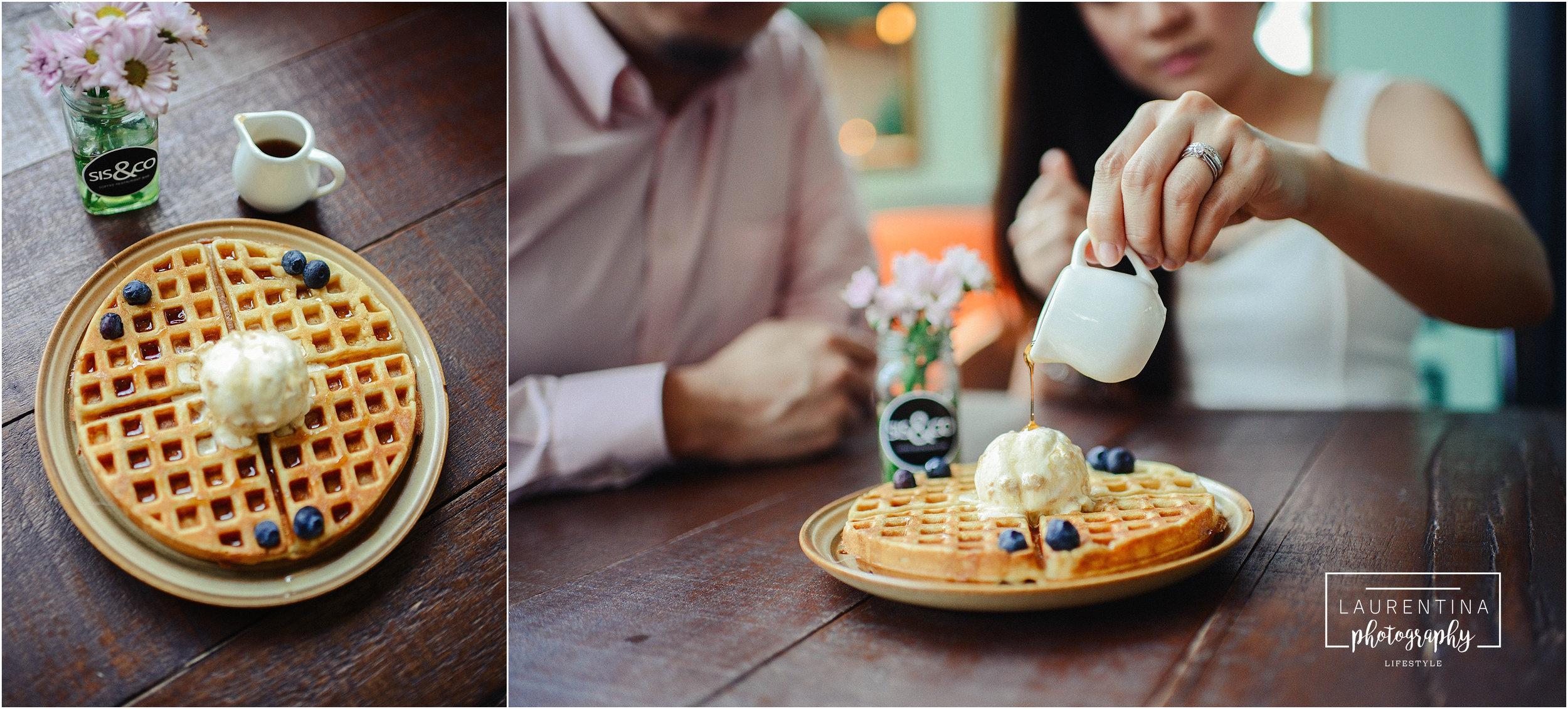 Waffles and Ice Cream Engagement Photography Malaysia