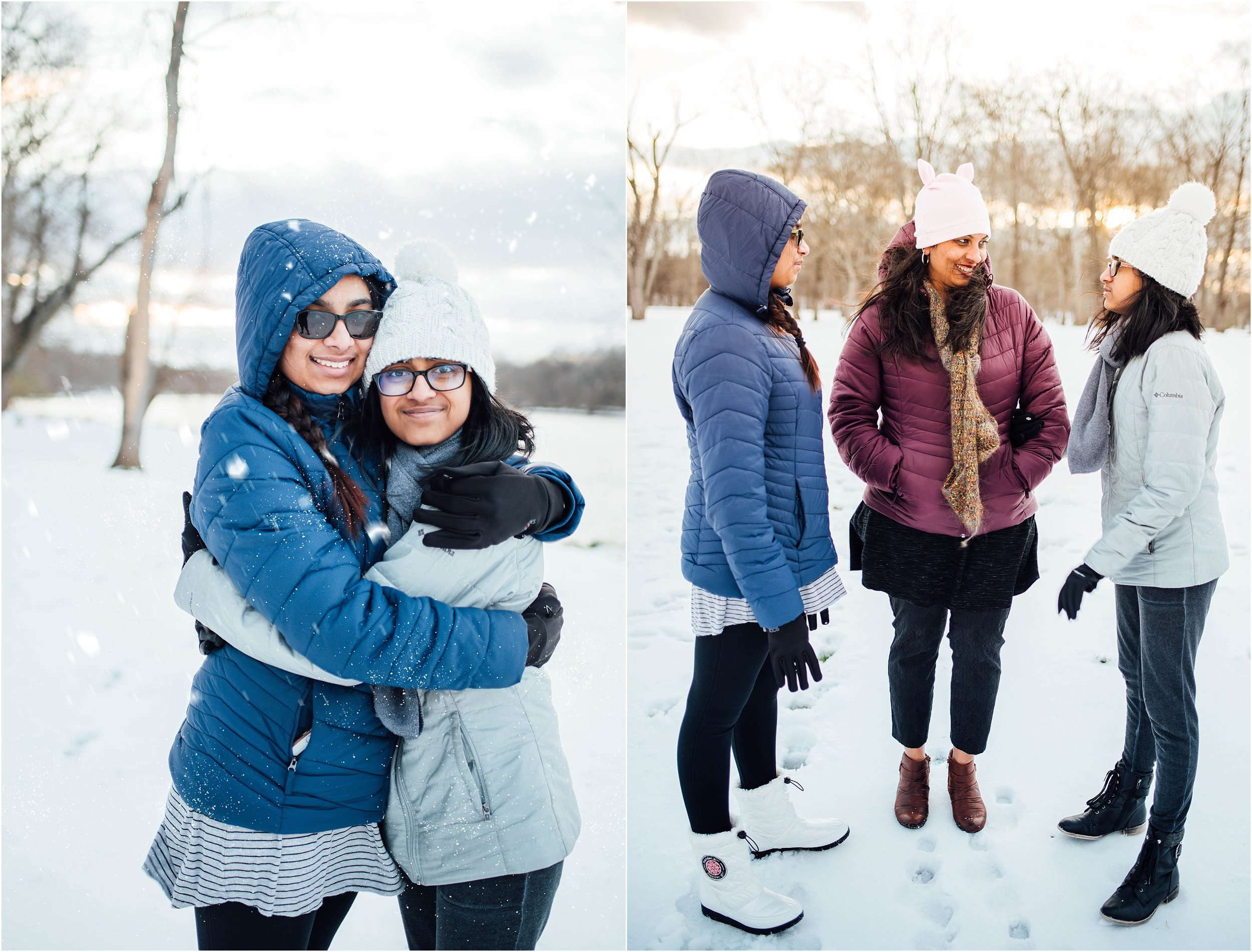 Family Snow Portraits at Algonkian Regional Park