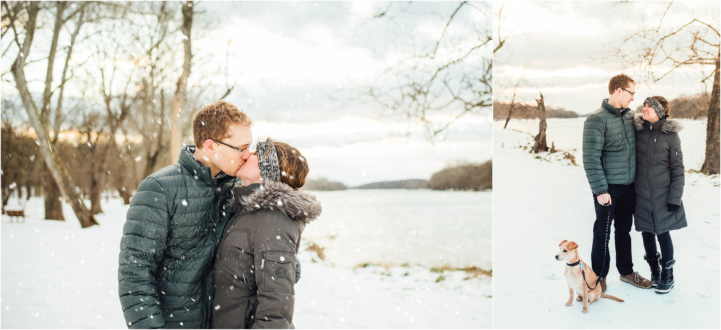 Snow Engagement Session at Algonkian Regional Park