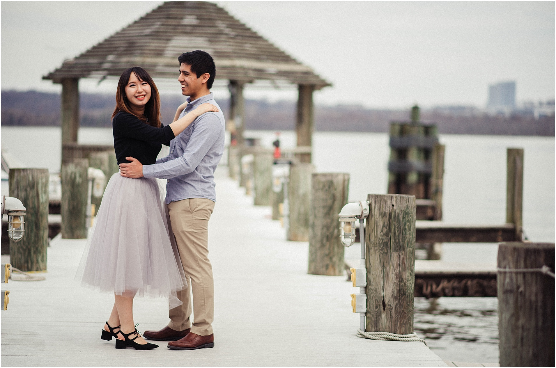 Old Town Alexandria Engagement Session by Waterfront