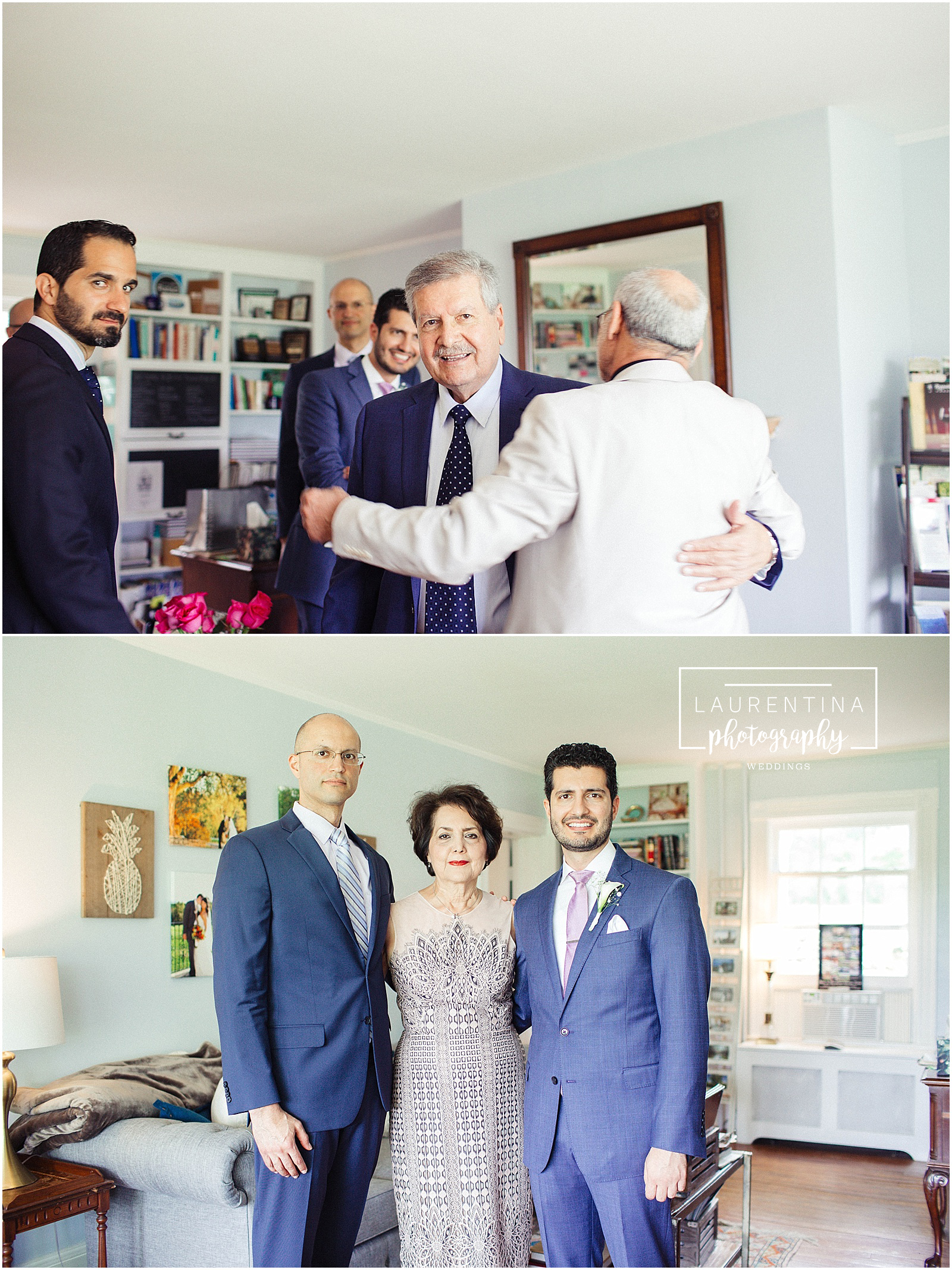 Groom with Mother and Best Man Bahai Wedding Briar Patch Bed and Breakfast