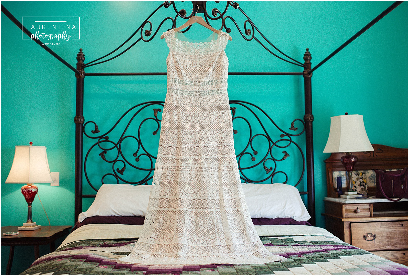 BHLDN Vintage Lace Wedding Dress Bahai Wedding Briar Patch Bed and Breakfast