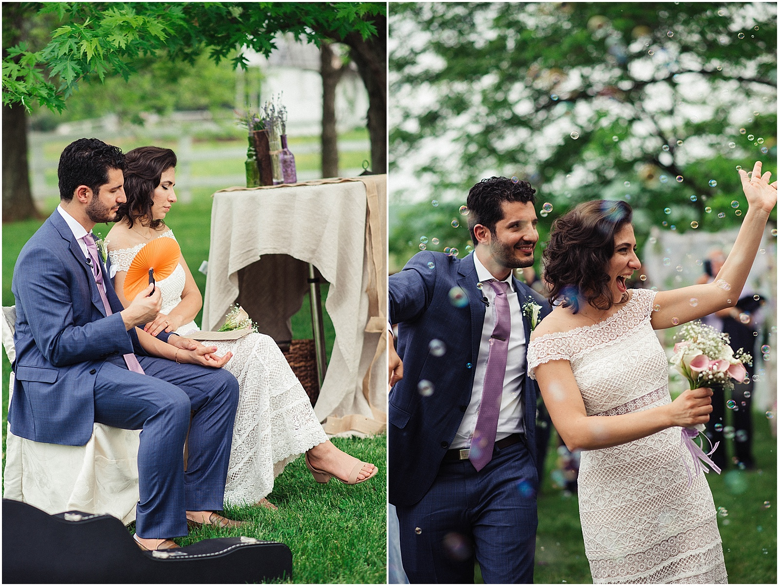 Persian American Ceremony Bahai Wedding Briar Patch Bed and Breakfast
