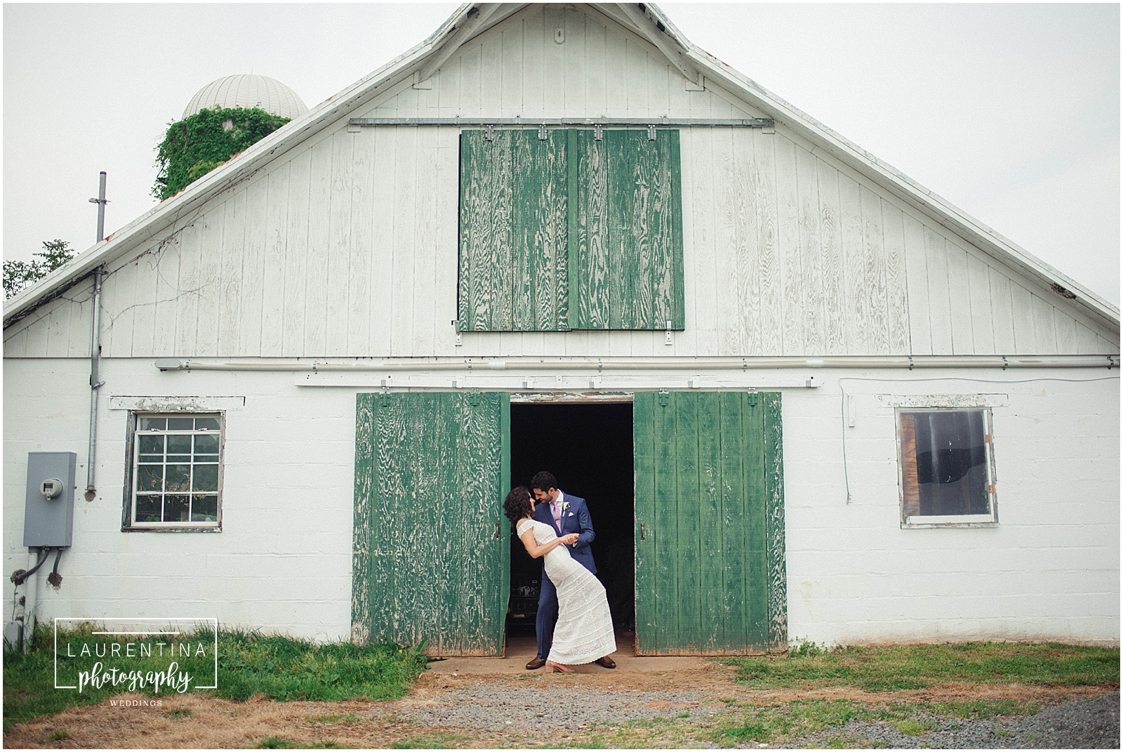 Bride and Groom Stable Portraits Bahai Wedding Briar Patch Bed and Breakfast