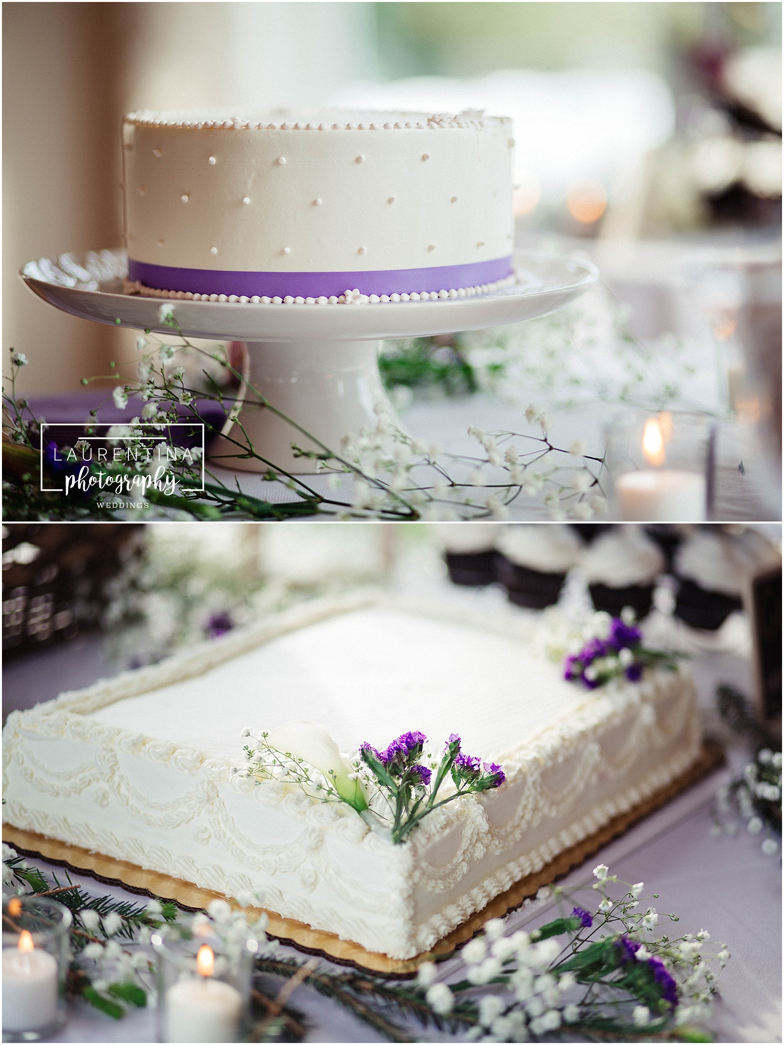 White Satin and Lavender Wedding Cake Bahai Wedding Briar Patch Bed and Breakfast