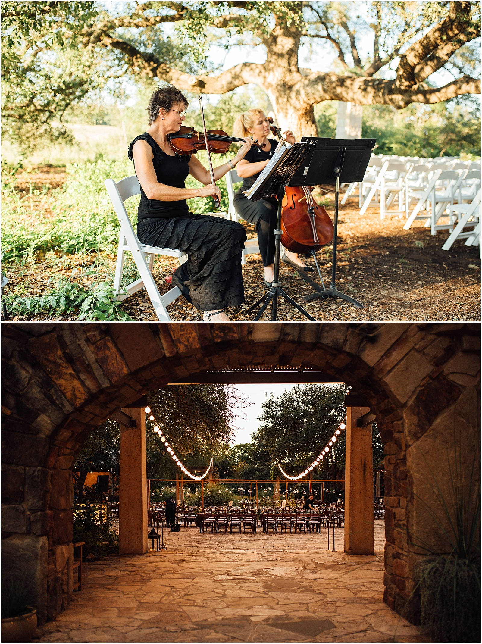 Live musician Blush Pink Bridal Details at Lady Bird Johnson Wildflower Center Austin Texas Wedding