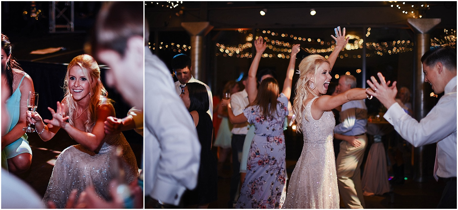 Bride dancing at Lady Bird Johnson Wildflower Center Austin Texas Wedding