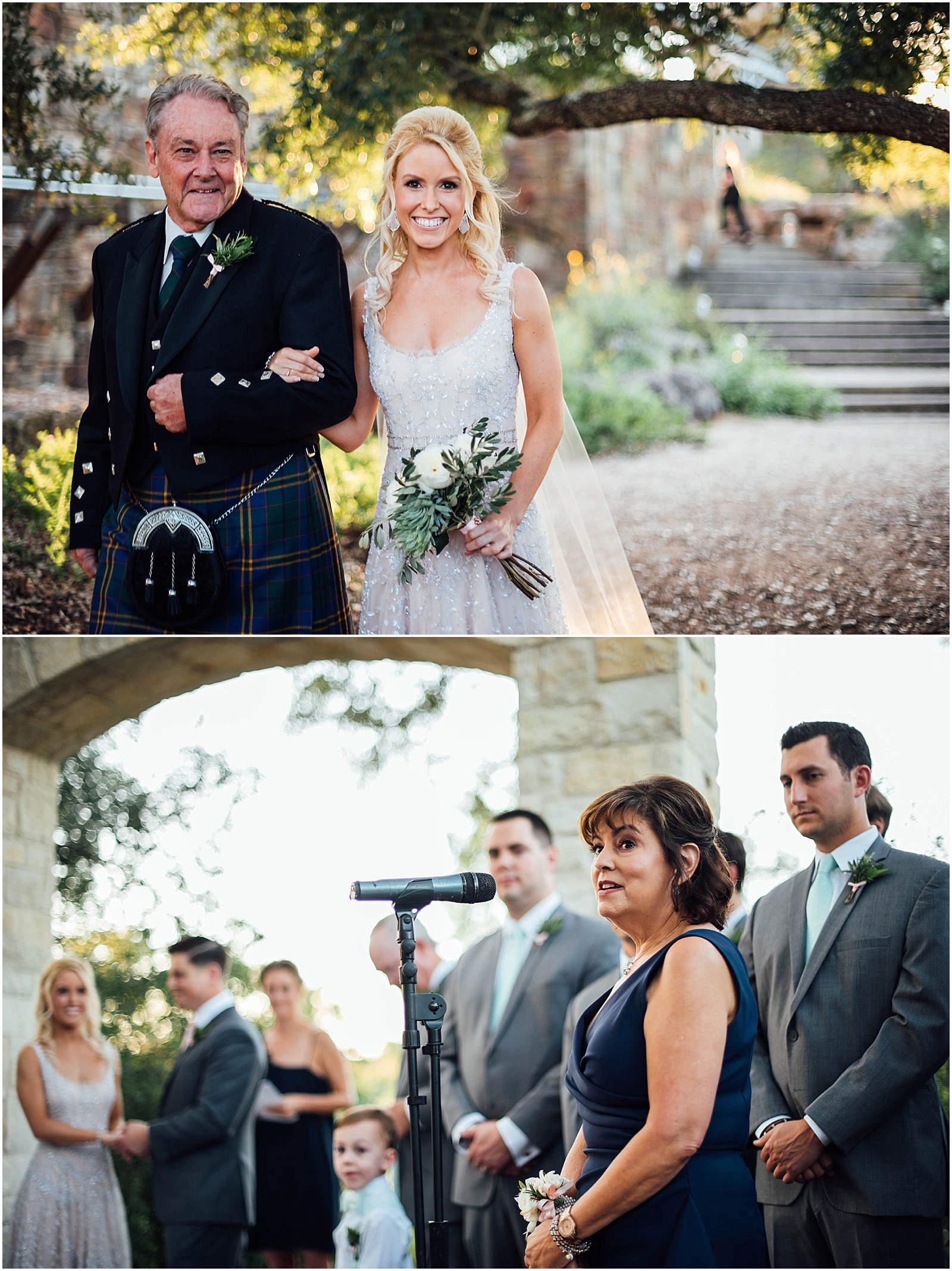 Ceremony Blush Pink Bridal Details at Lady Bird Johnson Wildflower Center Austin Texas Wedding