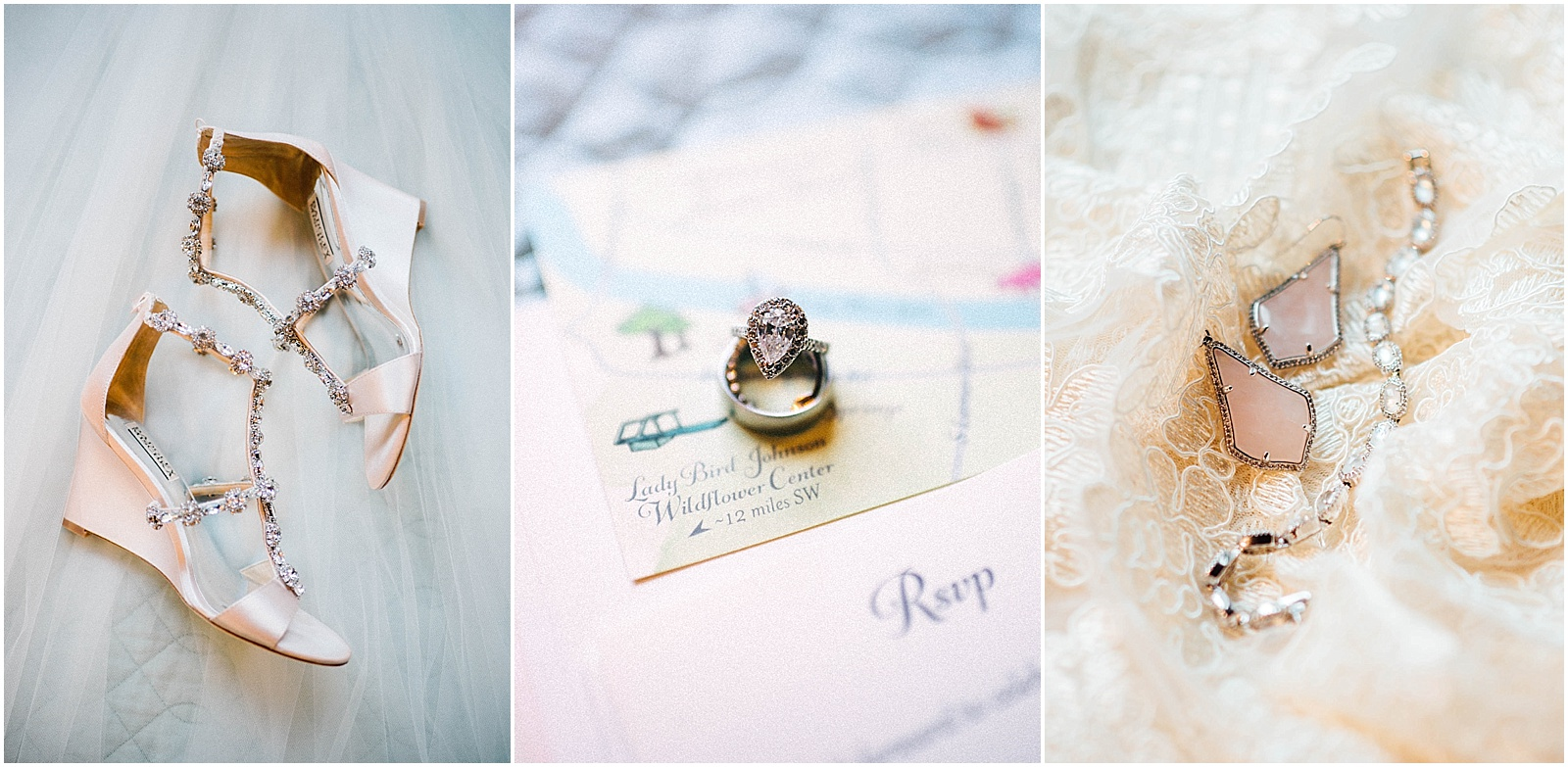 Blush Pink Bridal Details at Lady Bird Johnson Wildflower Center Austin Texas Wedding